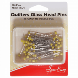 Sew Easy Quilters Glass Head Pins