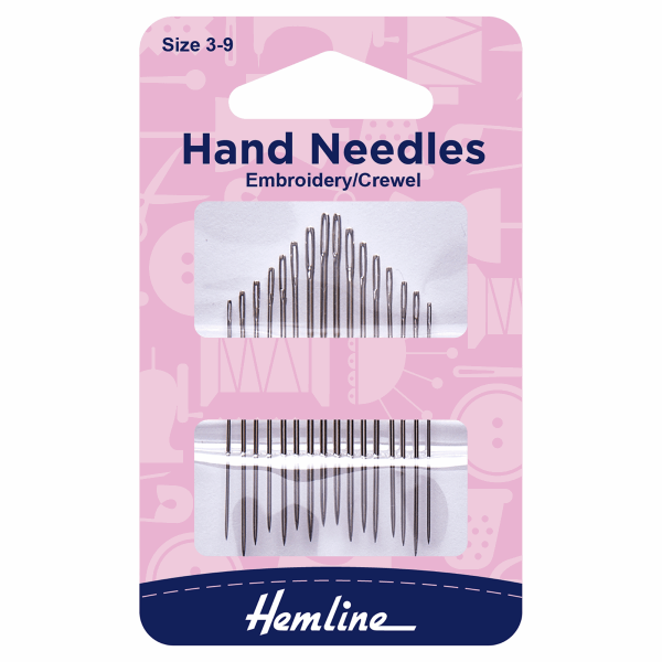 Hemline Embroidery/Crewel Hand Needles
