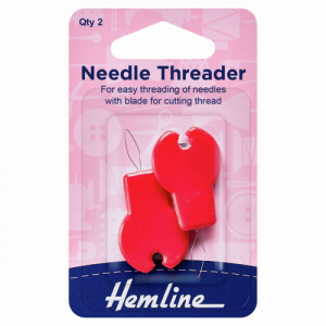 Hemline needle threader with cutter