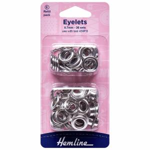 Hemline Eyelets Refill Pack Silver