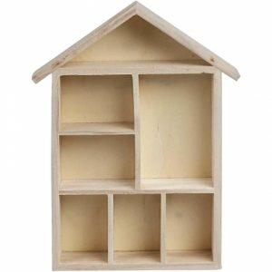 Wood house shelf