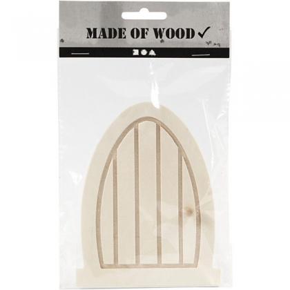 Wood miniature door