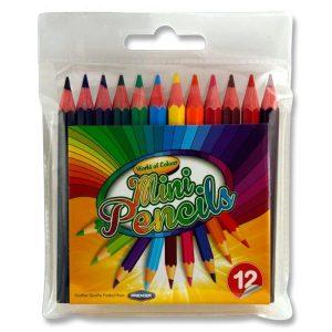 12 Mini Colouring Pencils