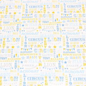Circus writing fabric