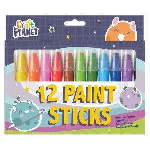 12 Bright Paint Sticks