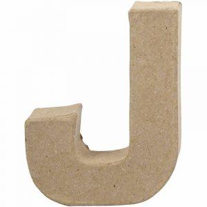 Paper Mache Letters J