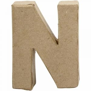 Paper Mache Letters N