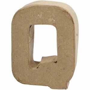 Paper Mache Letters Q