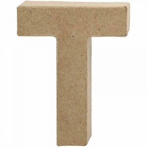 Paper Mache Letters T