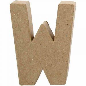 Paper Mache Letters W