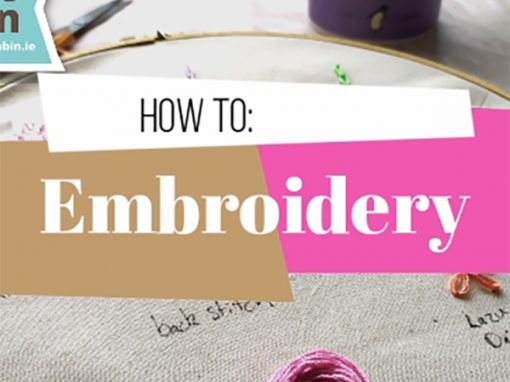 Embroidery: 7 Basic Stitches and How to Start