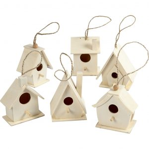 Wooden Bird Houses - Mini
