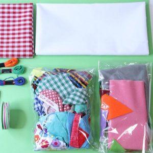 Fabric and Felt scrap bag