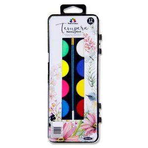 12 Colour Tempera Painting Block
