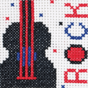 Rock Counted Cross Stitch
