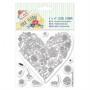 Folk Floral Stamp