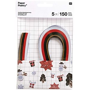 This quilling paper set comes with step by step instructions to make Christmas motifs. Use various quilling tools to twist, shape and fix the colourful paper strips. Your imagination is the limit!