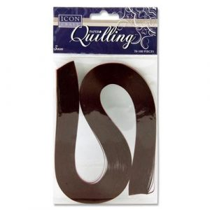 Quilling Strips Maroon