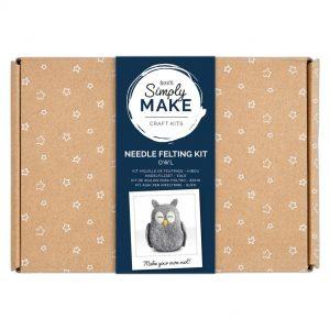 Needle Felting Kit: Owl