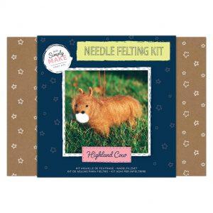 Needle Felting Kit: Highland Cow