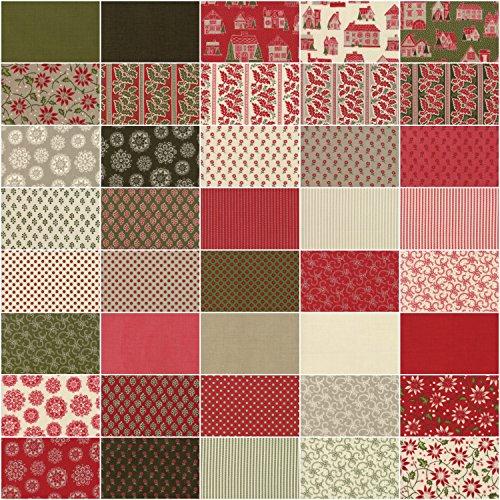 MODA Fabric Petites Maison De Noel Charm Pack