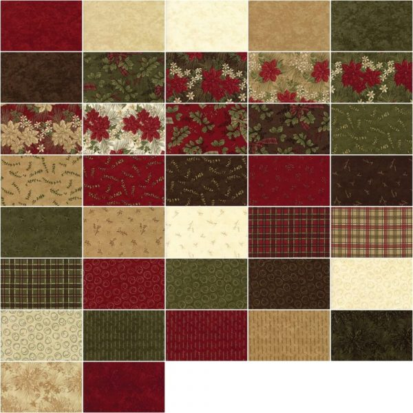 Moda Fabric Forever Green Charm Pack 2