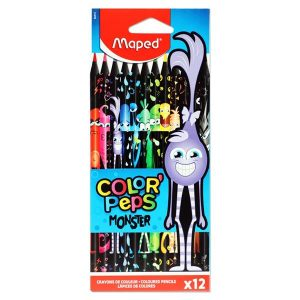 12 Monster Colouring Pencils