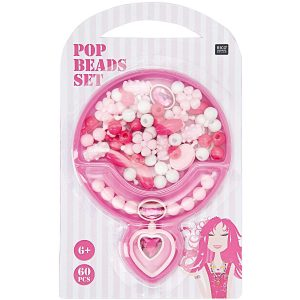 RICO DESIGN POP BEADS SET PINK SMALL