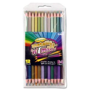 Double Headed Colouring Pencils - Metallic