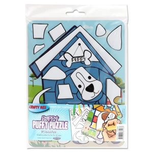 Colouring Puffy Puzzle - Puppy