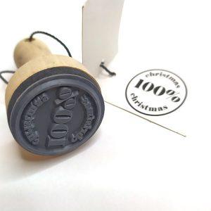 100% Christmas Stamp