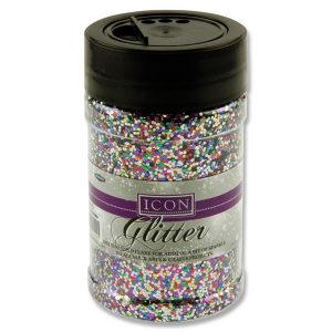 Icon 110g Pot of Multi Coloured Glitter