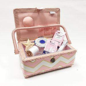 Pale Rose Sewing Box & Supplies