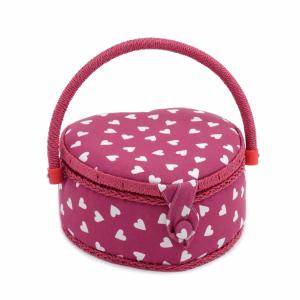 Raspberry Heart Sewing Box