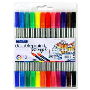 Pro:scribe Pkt.12 Double Sided Thick/thin Markers