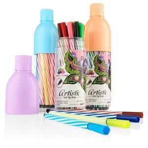Bottle Of 24 Artistic Felt Tip Pens.