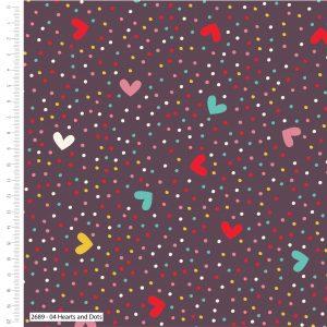 Happy Owls - Hearts & Dots