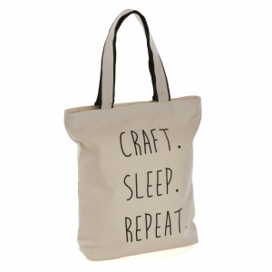 'Craft Sleep Repeat' Tote Bag