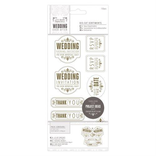 Wedding Die-Cut Sentiments