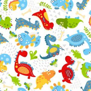 Dino World On White