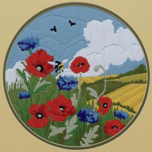 Long Stitch Kit: Poppies & Cornflowers
