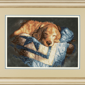 Stamped Cross Stitch: Snooze