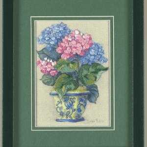 Mini Crewel Embroidery Kit: Colourful Hydrangea