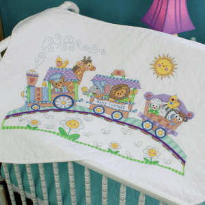 Stamped Cross Stitch: Quilt: Baby Express