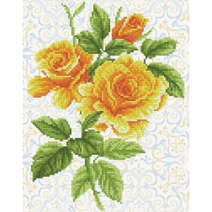 Diamond Painting Kit: Yellow Rose Bouquet