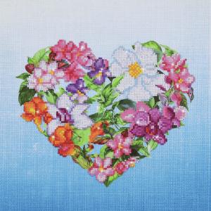 Diamond Painting Kit: Flower Heart