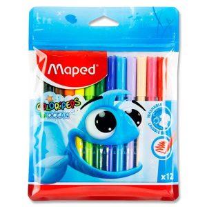 12 Colour'peps Felt Tip Markers - Ocean