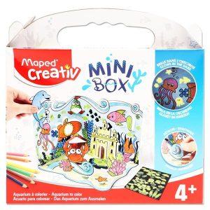 Maped Creativ Mini Box - Aquarium To Colour. Fold, colour and create with this crafty kit. All you need to create a fabulous aquarium.