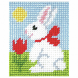 Needlepoint Kit: My First Embroidery: Easter Bunny