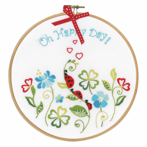 Embroidery Kit with Ring: Oh Happy Day